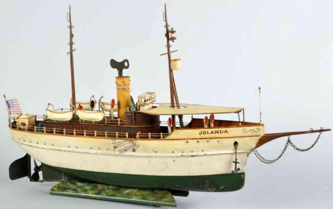 maerklin 5064/62 blech spielzeug schiff jolanda uhrwerk