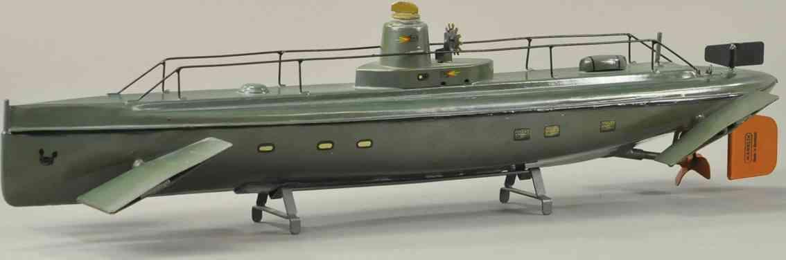 maerklin 5081/57 blech spielzeug das zeitgroesste U-Boot gruen