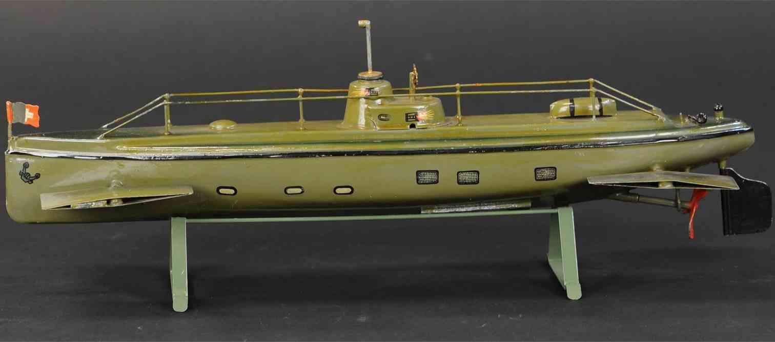 maerklin 5108/41 blech spielzeug u-boot  uhrwerk periskop