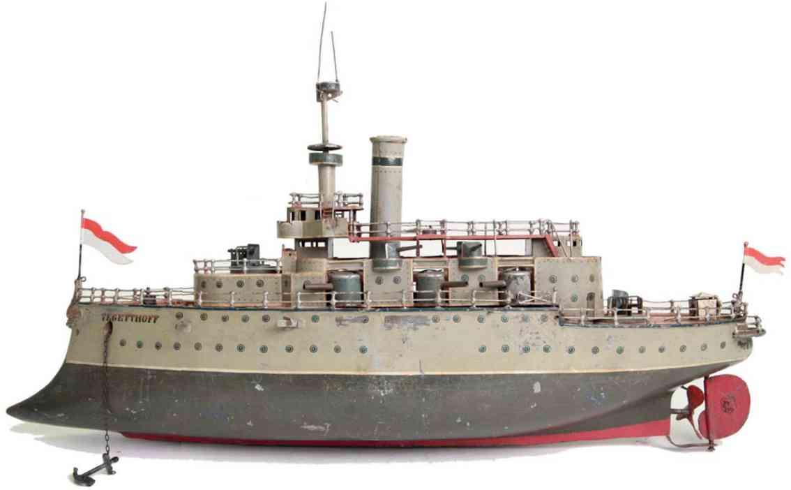 marklin maerklin 5121/4 tegetthoff tin toy battleship