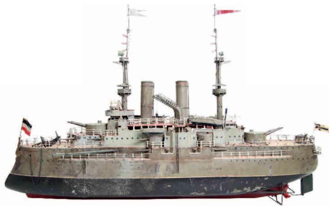 marklin maerklin 5130 d/11 tin toy  large battleship bruncvik