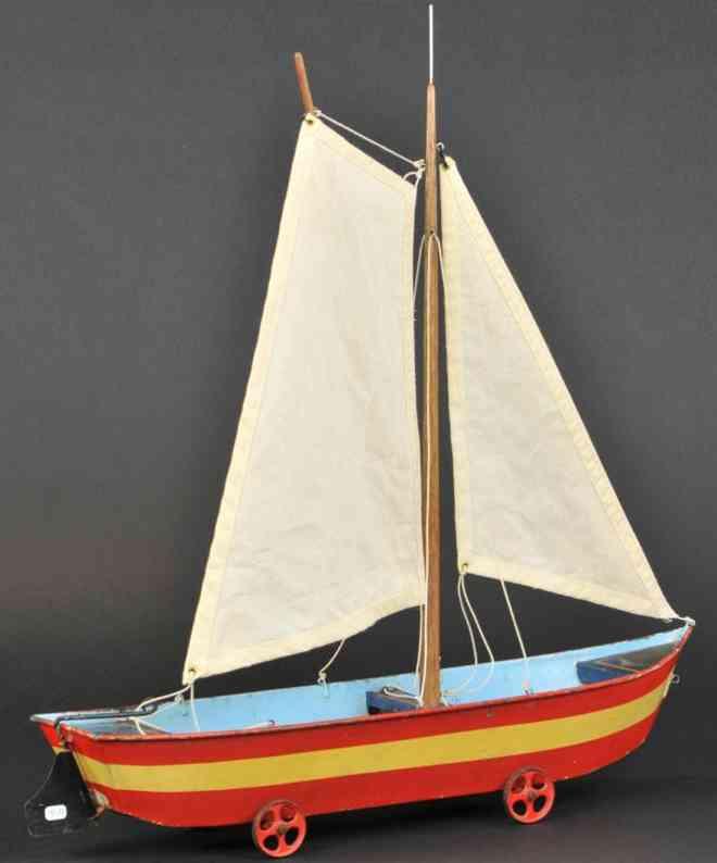 maerklin 8621/3 blech spielzeug segelboot sandspielzeug