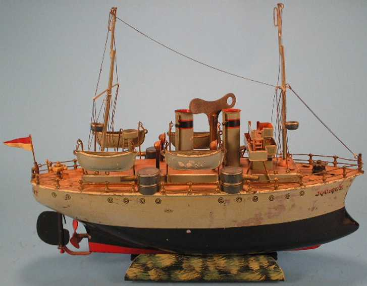 marklin 5103 tin toy jquique ram front battleship clockwork