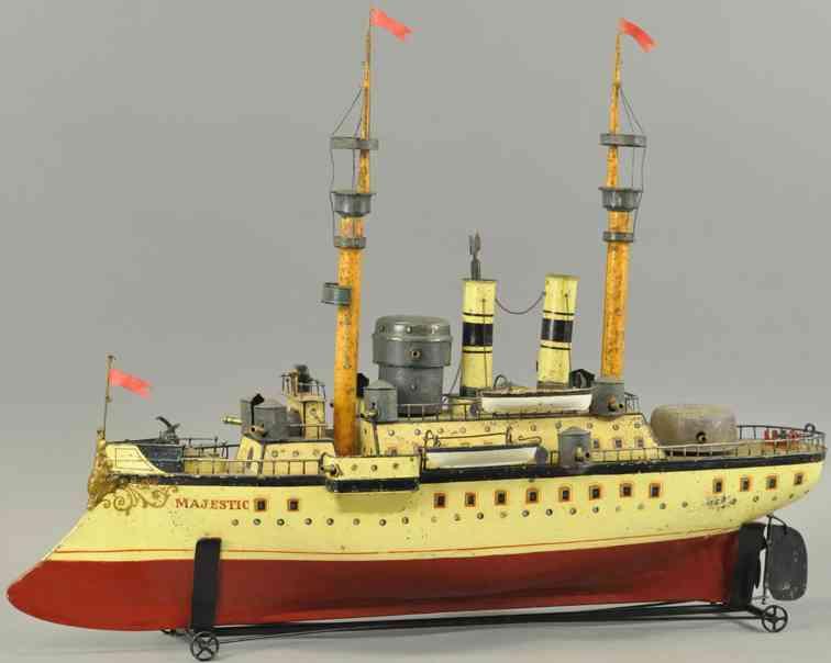 maerklin blech spielzeug großes kriegsschiff majestic