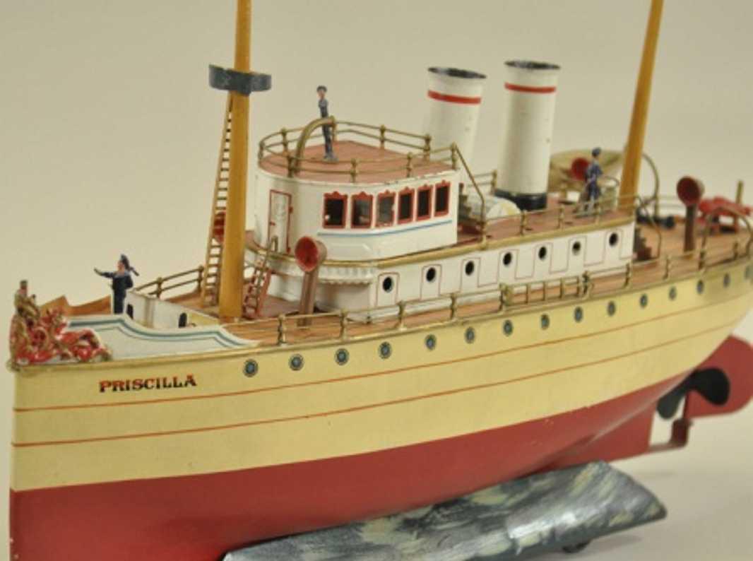 maerklin 5044 blech spielzeug flussboot priscilla uhrwerk