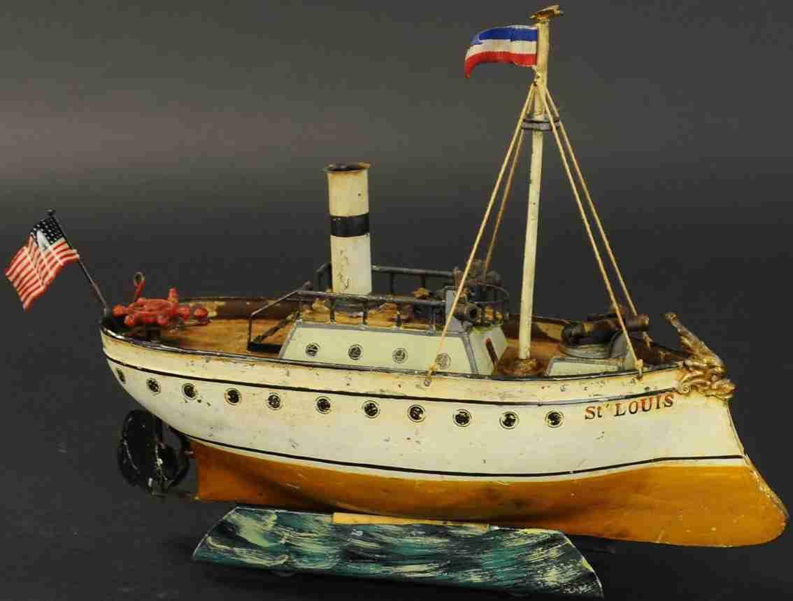 maerklin blech spielzeug schlachtschiff st. louis mit uhrwerk