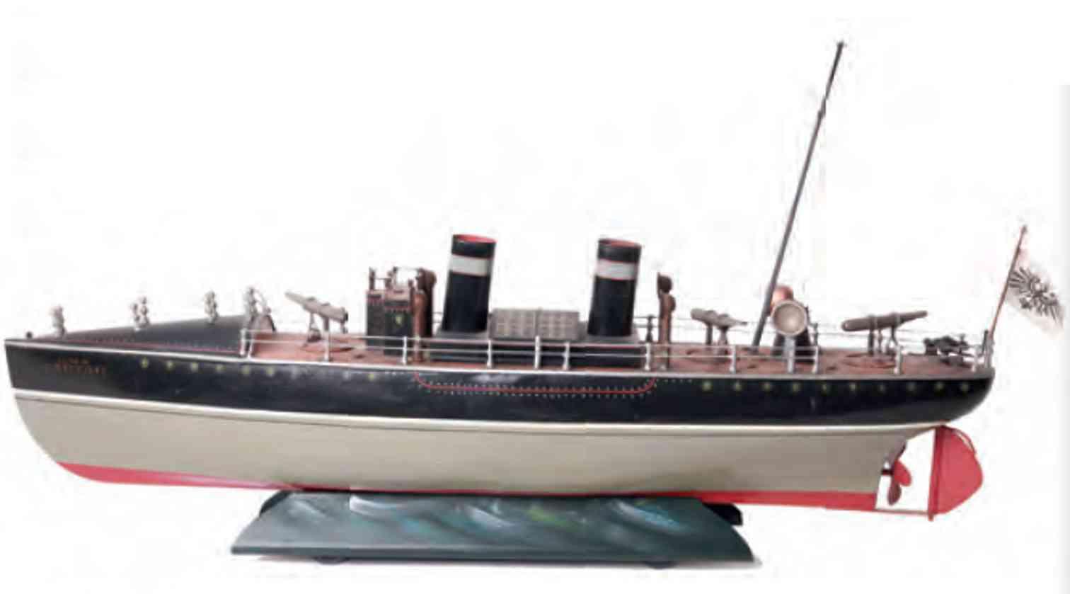 marklin maerklin tin toy torpedo boat with clockwork