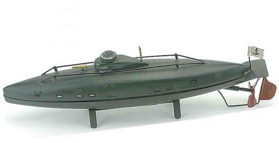 maerklin blech spielzeug u-boot mit uhrwerk