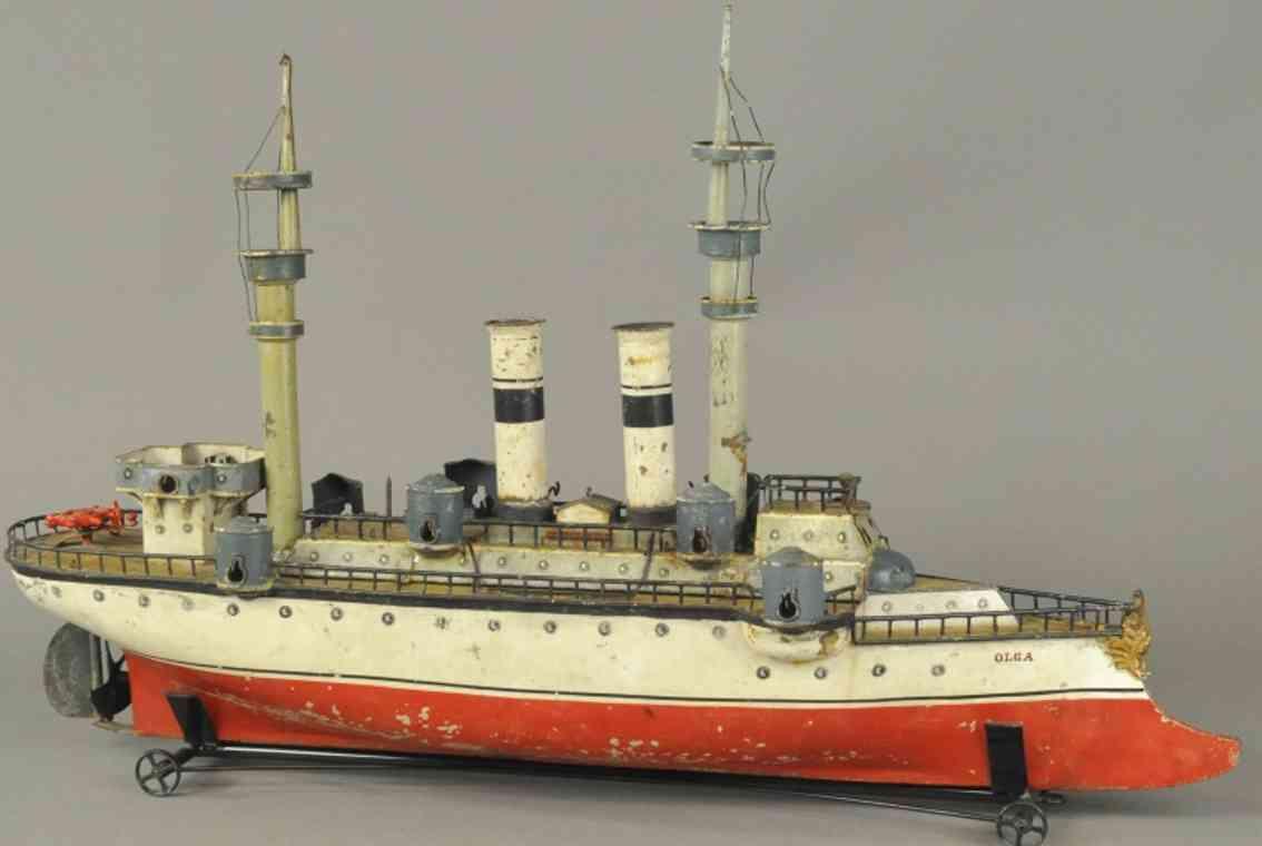 maerklin blech spielzeug kriegsschiff olga