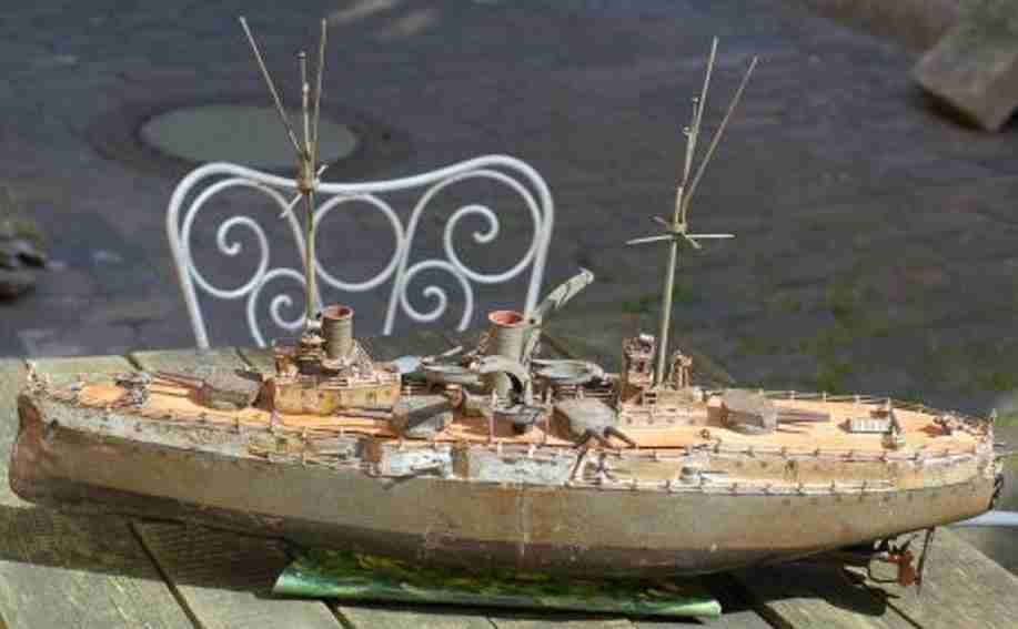 Märklin Kriegsschiff mit Uhrwerk