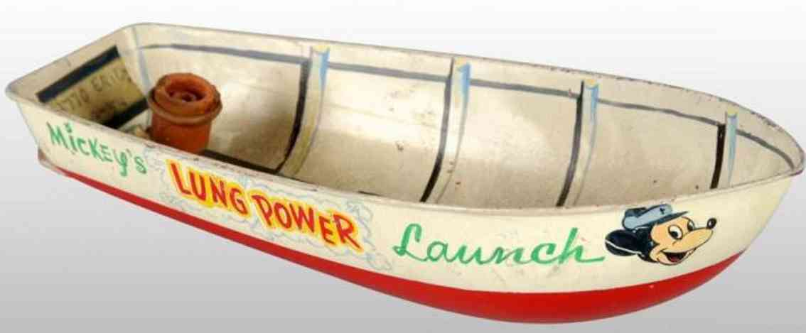 Marx Louis Mickey Mouse prototype boat Erie 5854