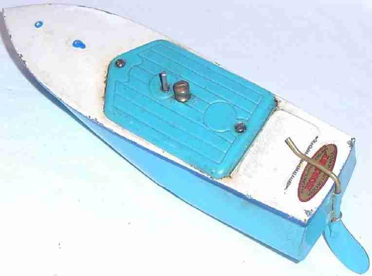 meccano erector blech spielzeug blechboot mit uhrwerk