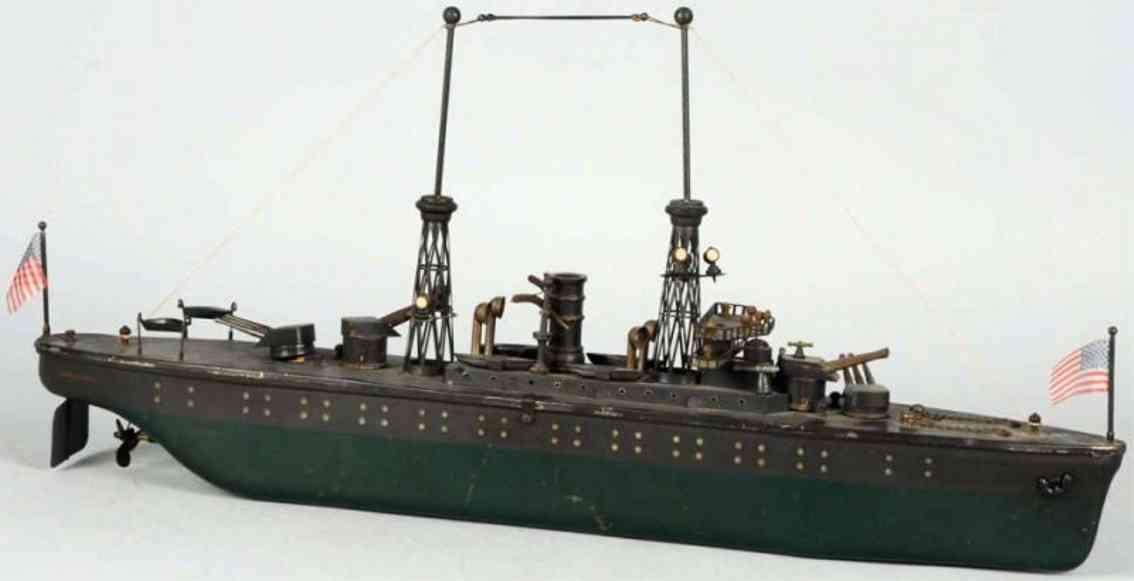 orkin blech spielzeug kriegsschiff mit uhrwerk