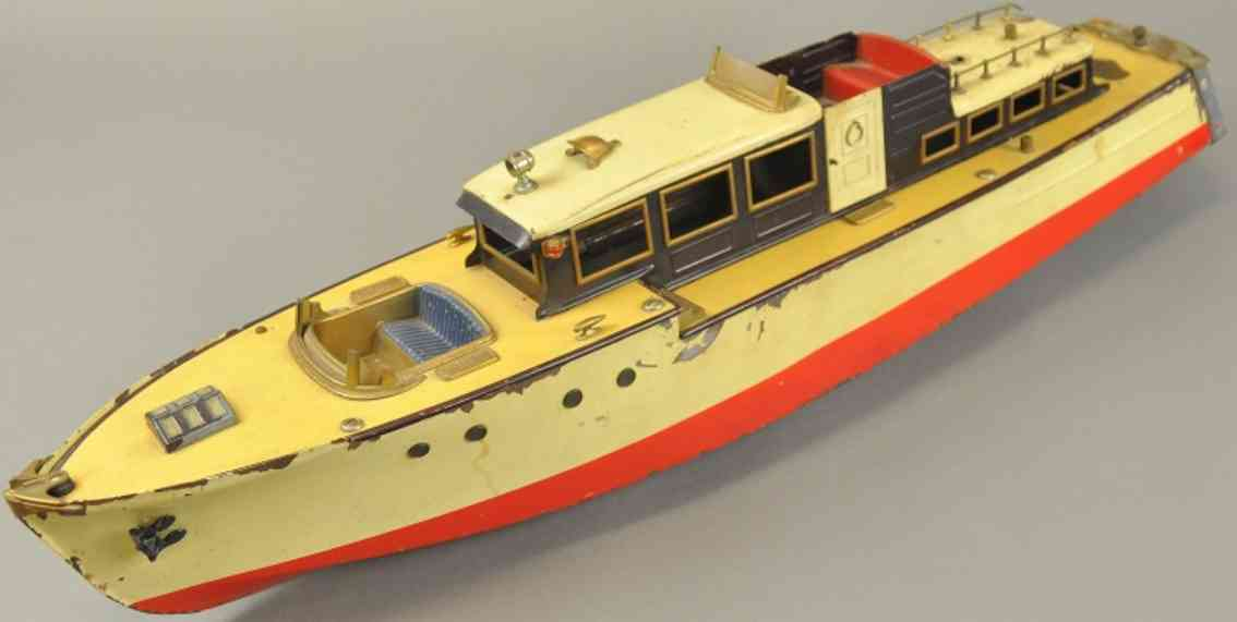 orkin blech spielzeug kajuetenboot uhrwerk