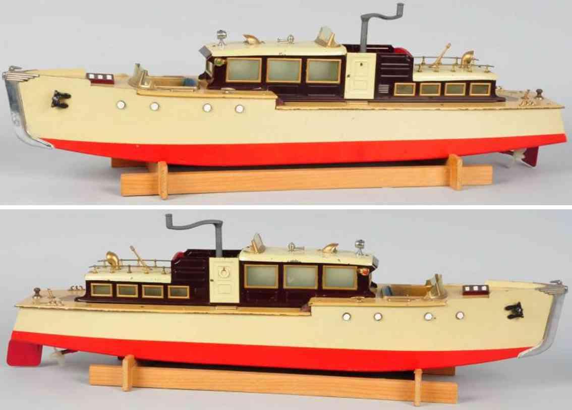 orkin blech spielzeug schiff kabinenboot motorboot uhrwerk