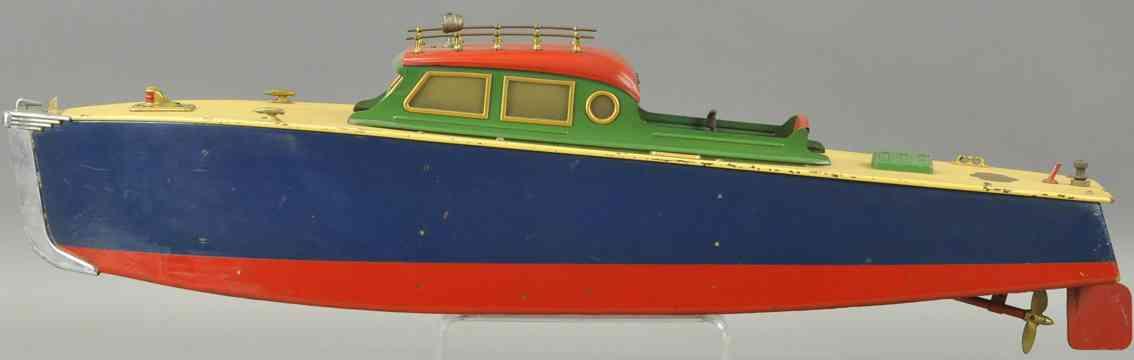 orkin blech spielzeug motorboot