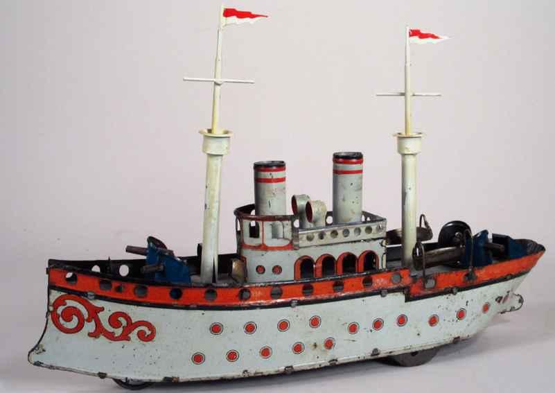 orobr blech spielzeug kriegsschiff uhrwerk
