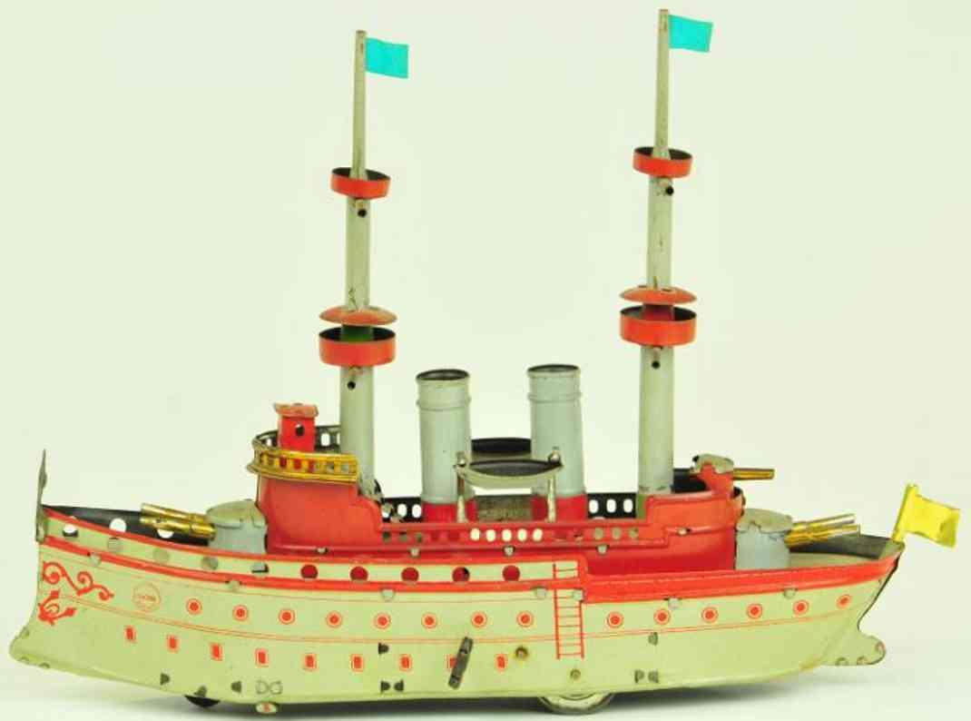 orobr blech spielzeug schiff kriegsschiff  uhrwerk