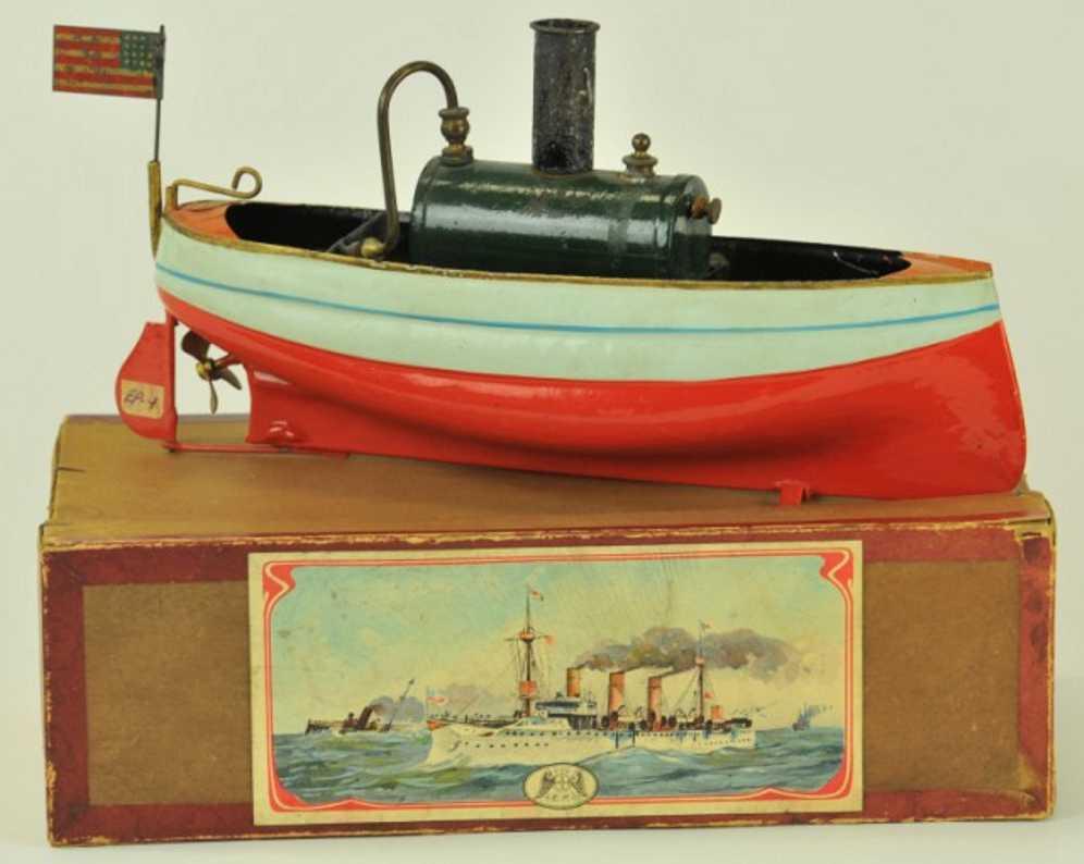 plank ernst 395/1 blech spielzeug schiff echtdampf-flussboot