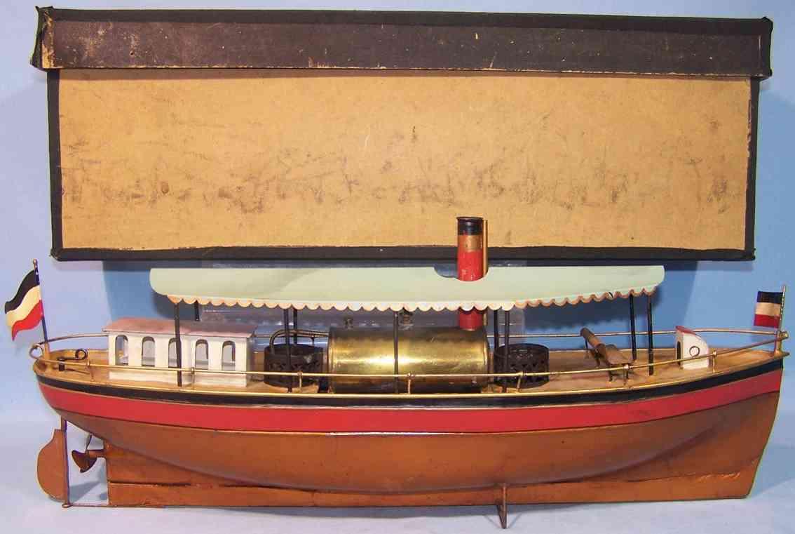 plank ernst 191 spielzeug dampfschiff spiritusheizung