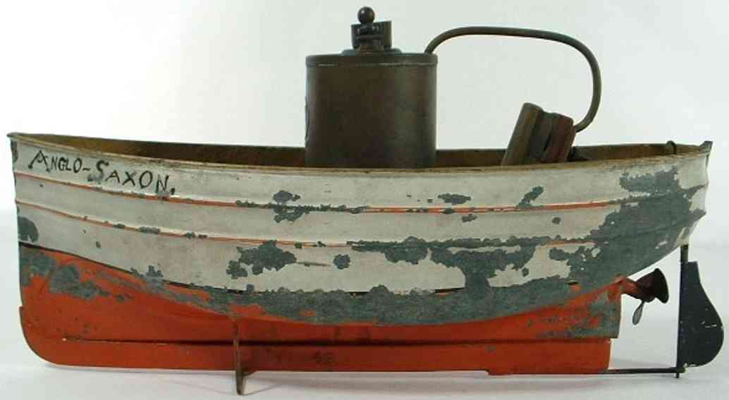 plank ernst tin toy ship steam engine powered boat