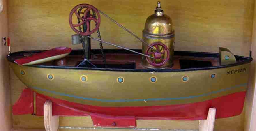 plank ernst tin toy ship steam dredger ship