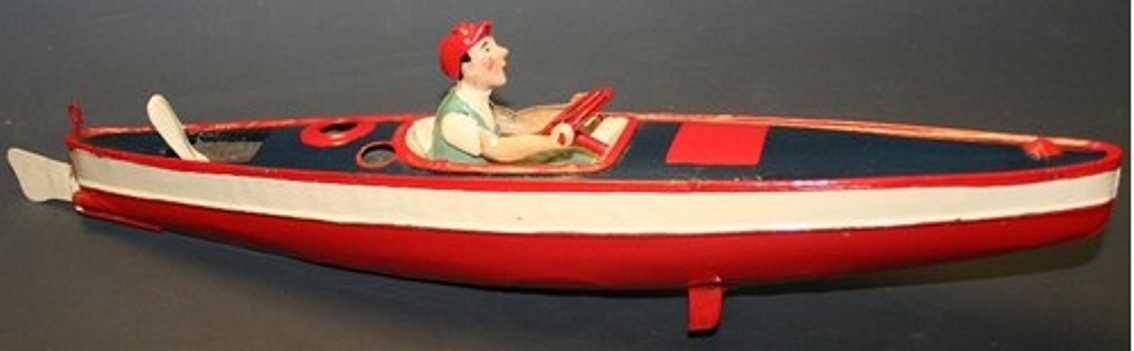 plank ernst tin toy ship boat steam powered