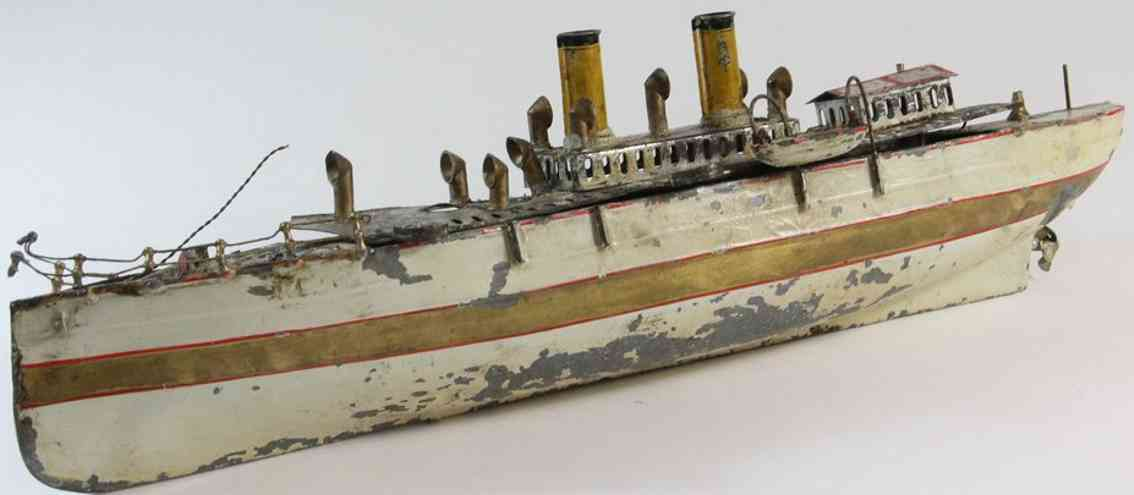 plank ernst 50 blech spielzeug dampf kanonenschiff