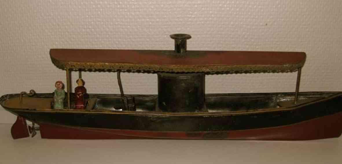 plank ernst blech spielzeug schiff dampfboot baldachin