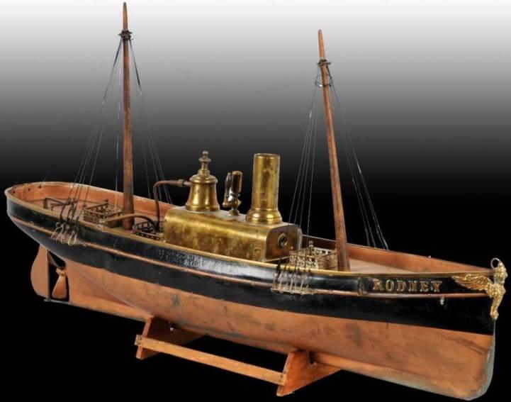 radiguet & massiot blech spielzeug  rodney dampfschiff