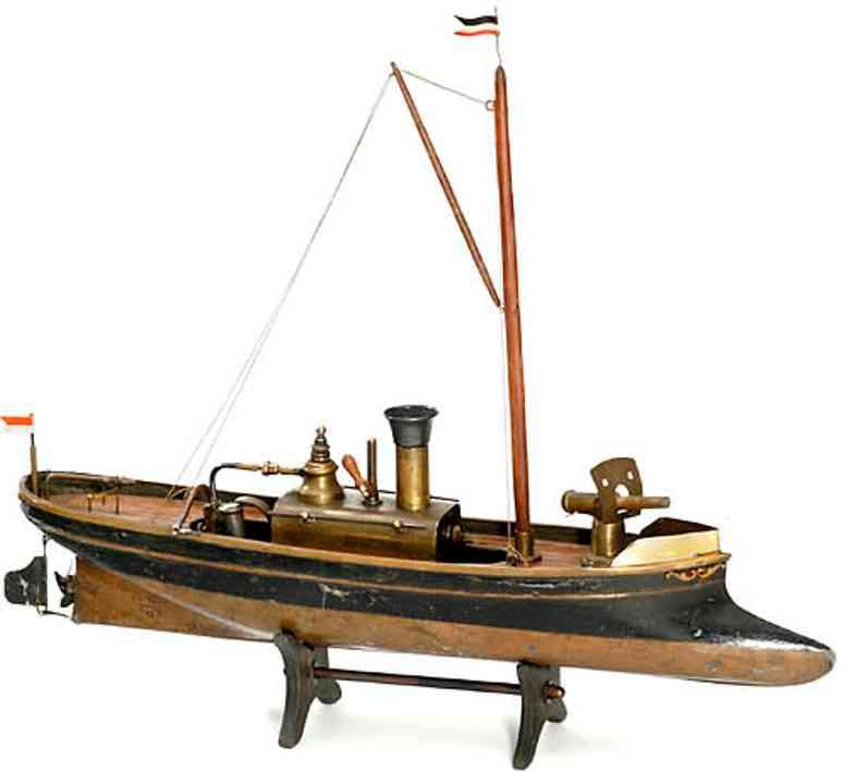 radiguet & massiot blech spielzeug dampfschiffboot