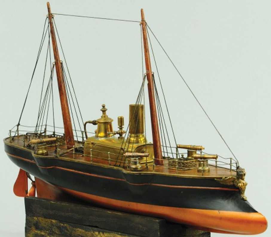 radiguet & massiot tin toy ship cruiser