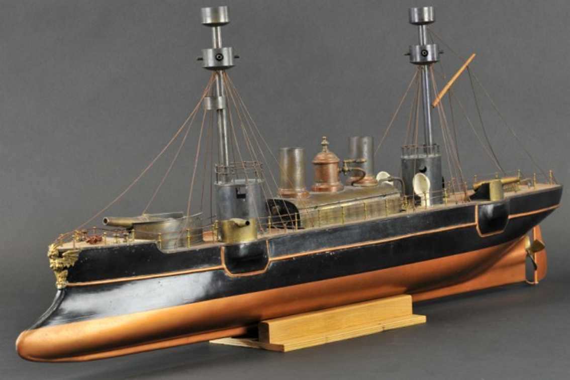 radiguet & massiot blech spielzeug echtdampf-kriegsschiff