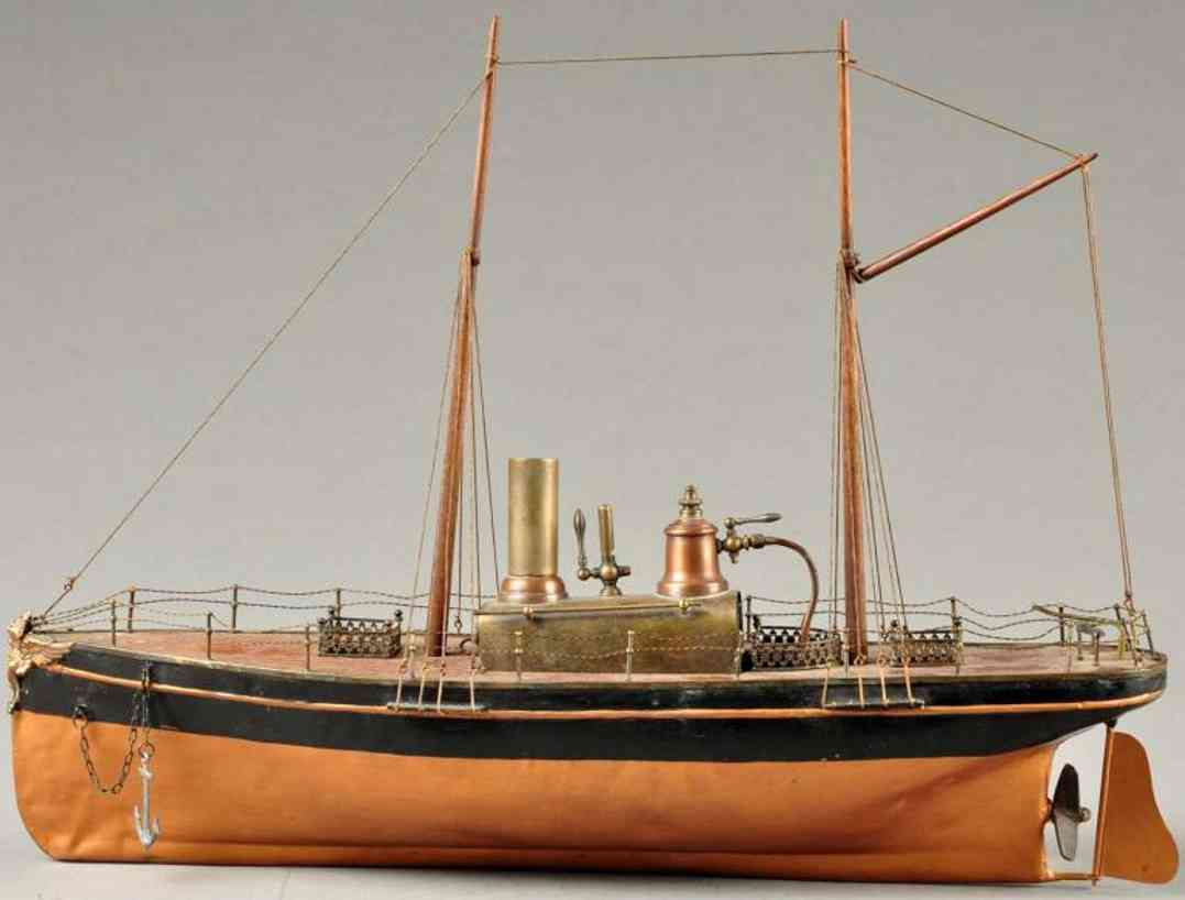 radiguet & massiot tin toy ship live steam boat
