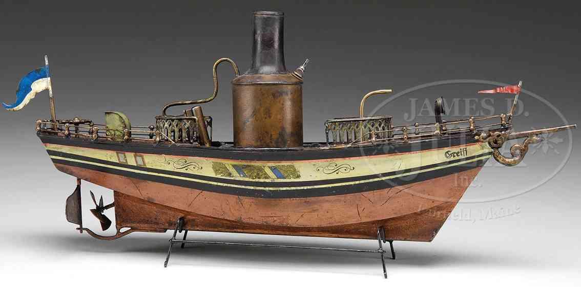 rock & graner tin toy ship live steam boat