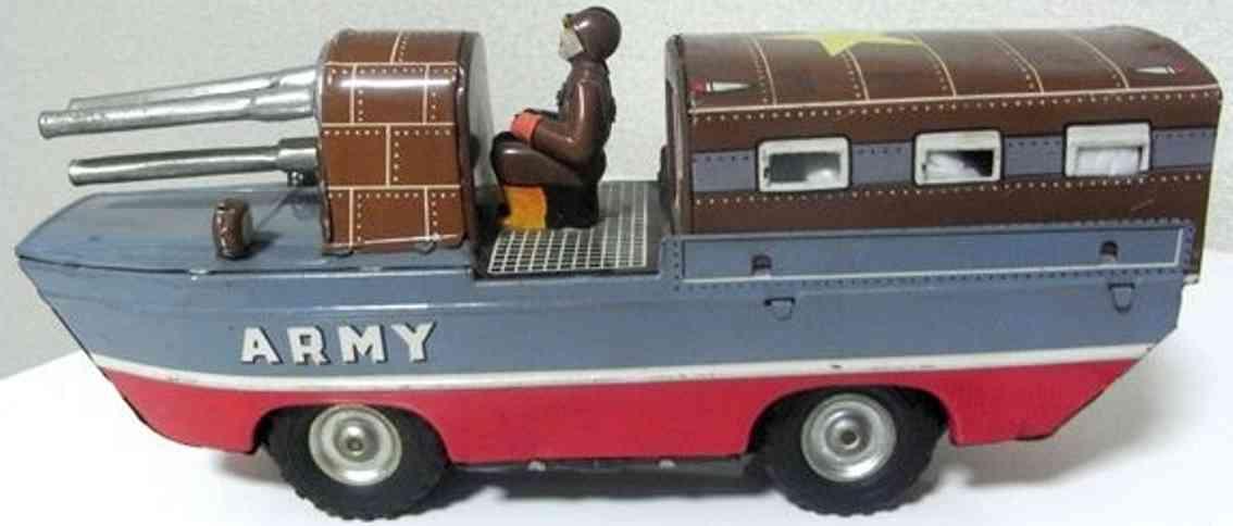 sankei kogyo tin toy submarine tank car tin toy