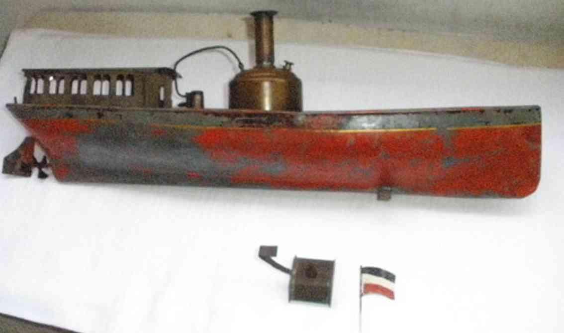 schoenner 807 blech spielzeug schiff flussdampfer dampfbetrieben