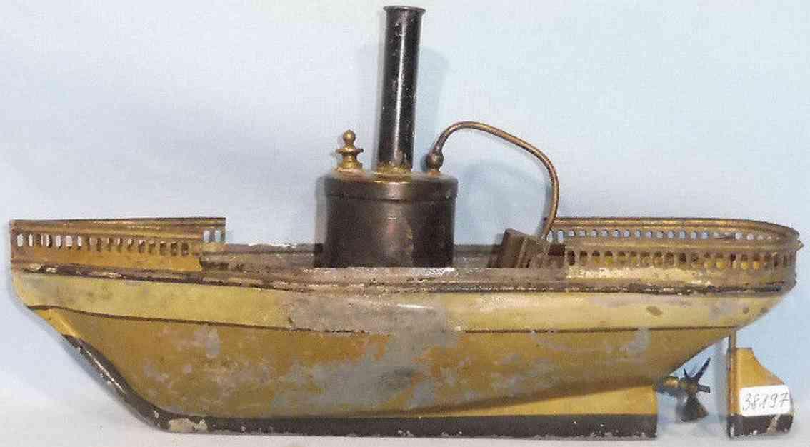 schoenner blech spielzeug schiff dampfbetriebenes flussboot