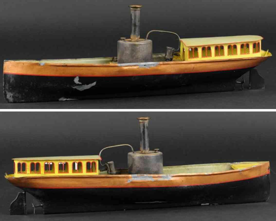 schoenner blech spielzeug schiff dampf-flussboot
