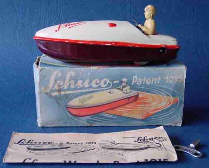 schuco 1015 tin toy ship mirakobo turn boat clockwork
