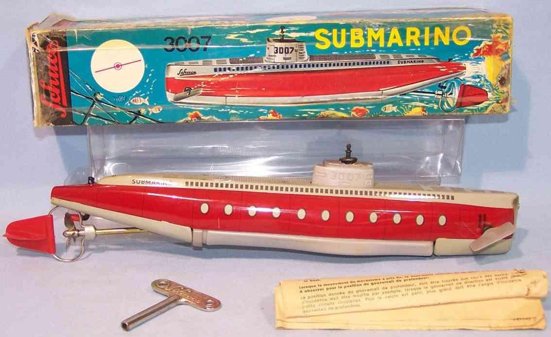 schuco 3007 blech spielzeug electro-submarino u-boot