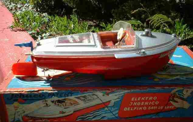 schuco 5411 blech spielzeug delfino mk deluxe elektrisches boot