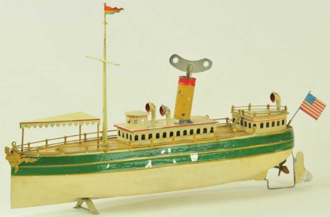 staudt leonhard 3612/5 blech spielzeug schiff flussboot
