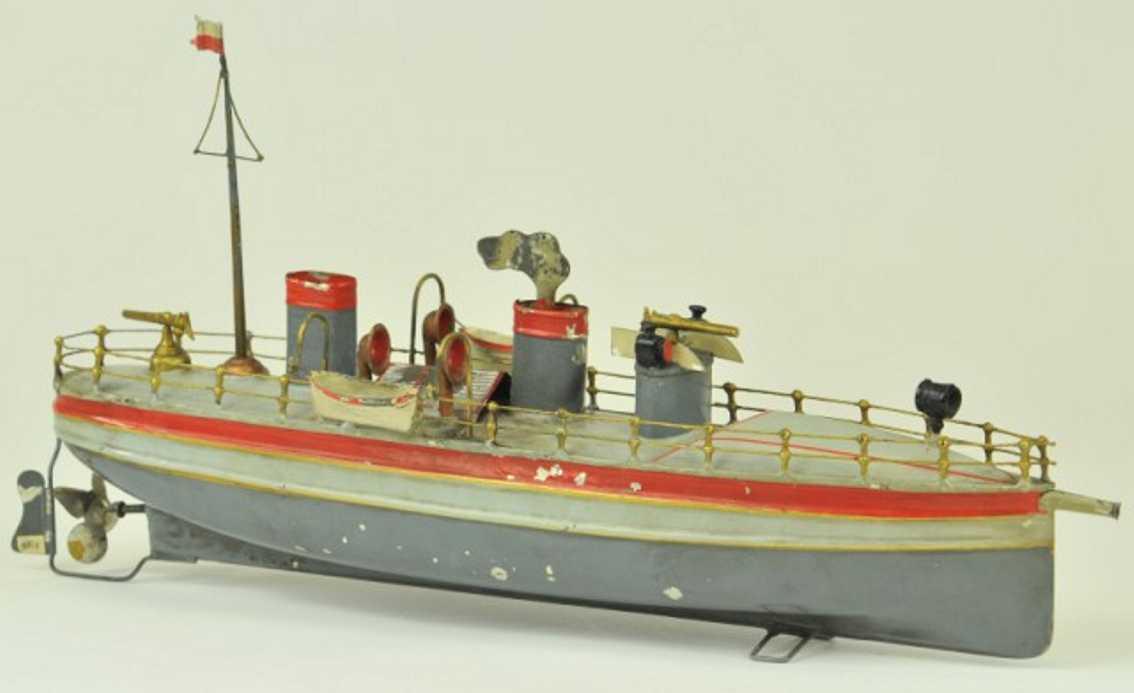 staudt leonhard 3200/4 blech spielzeug schiff kanonenboot