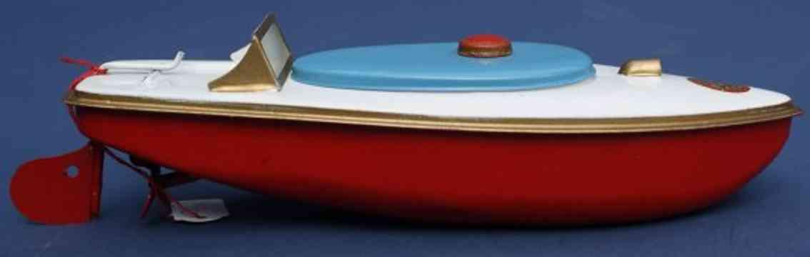sutcliffe 2 blech spielzeug rennboot swift uhrwerk