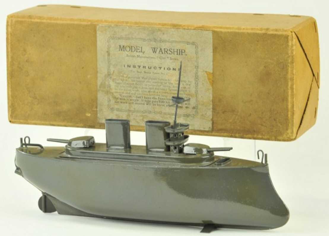 sutcliffe tin toy battleship putt-putt engine