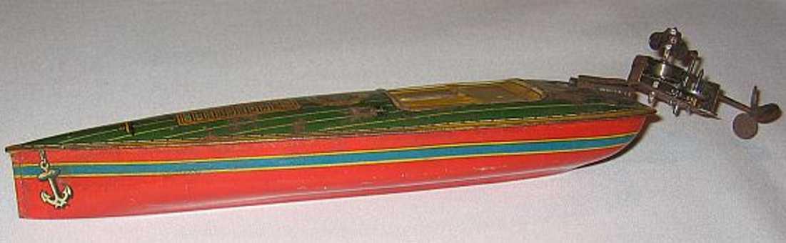 technofix 200 blech spielzeug rennboot mit abnehmbaren außenbordmotor