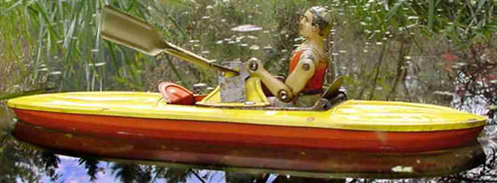 technofix 222 blech spielzeug paddelboot