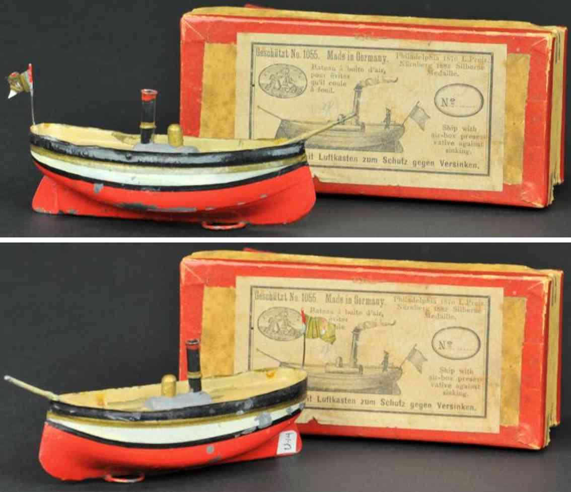 uebelacker 1055 blech spielzeug dampfschiff