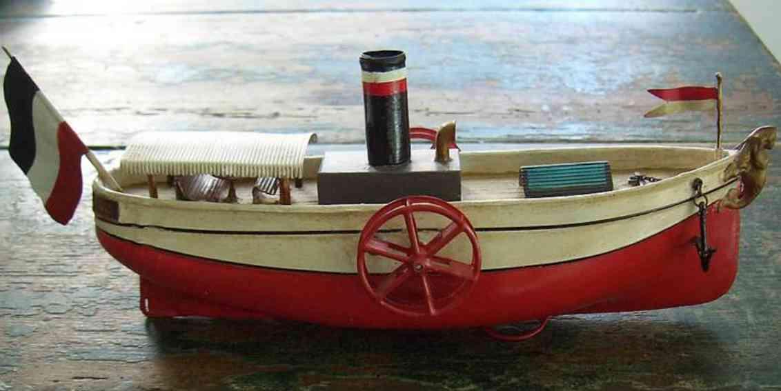 uebelacker blech spielzeug schiff raddampfer mit uhrwerk